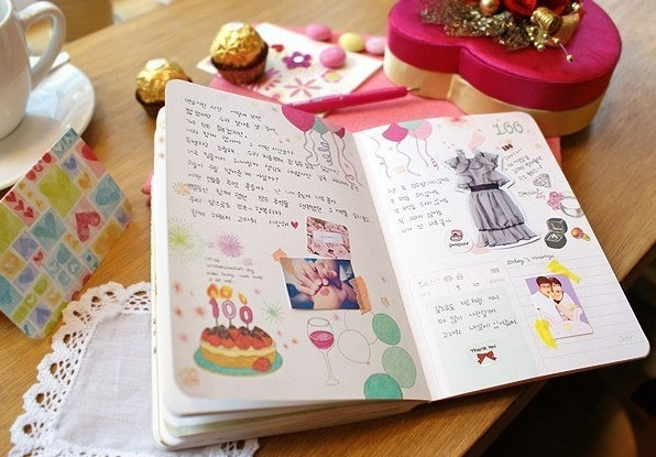 Как сделать личный дневник из тетради своими