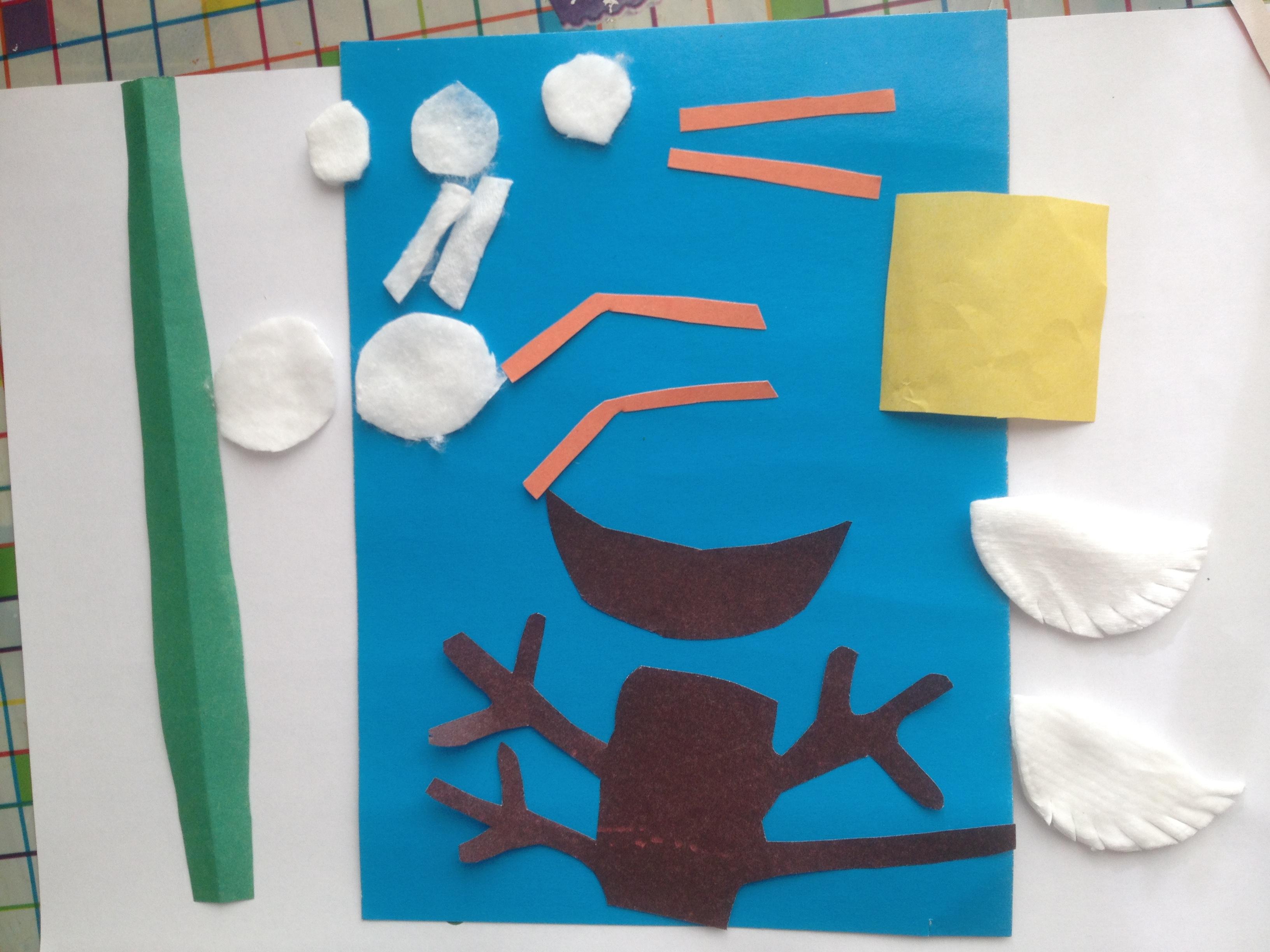 материалы для аппликации для детей 3-4 лет