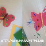 Детская поделка «бабочка» из бумаги для цветов