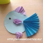 Поделка рыбка из бумаги