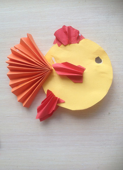 золотая рыбка из бумаги своими руками вместе с детьми 4-5 лет