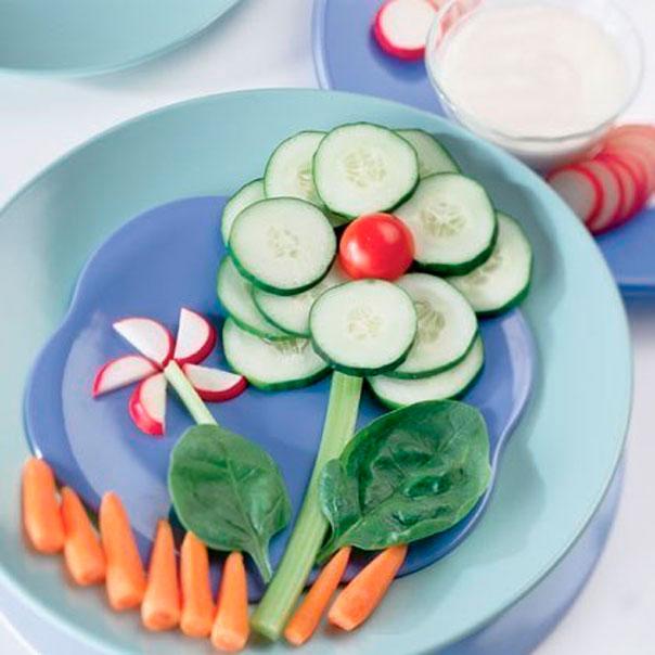 как оформить овощи для ребенка