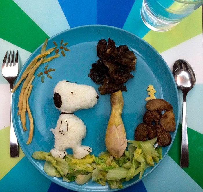 как красиво положить еду на тарелку для ребенка