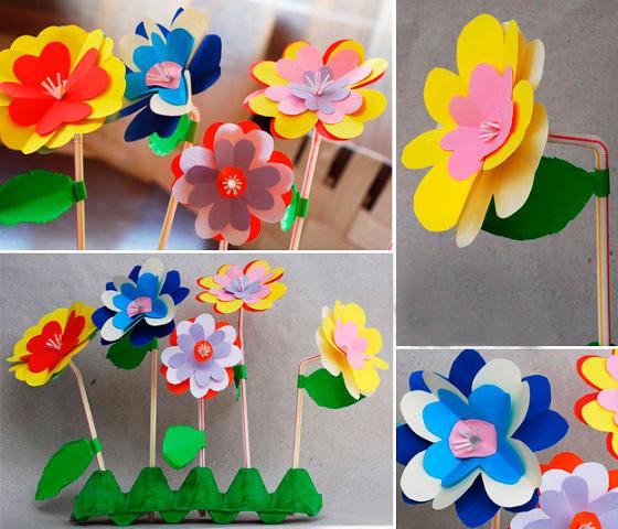 поделка летние цветы