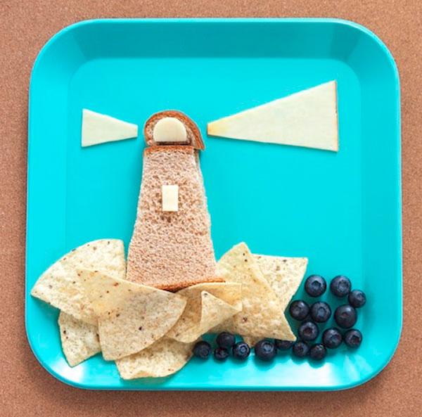 маяк на тарелке