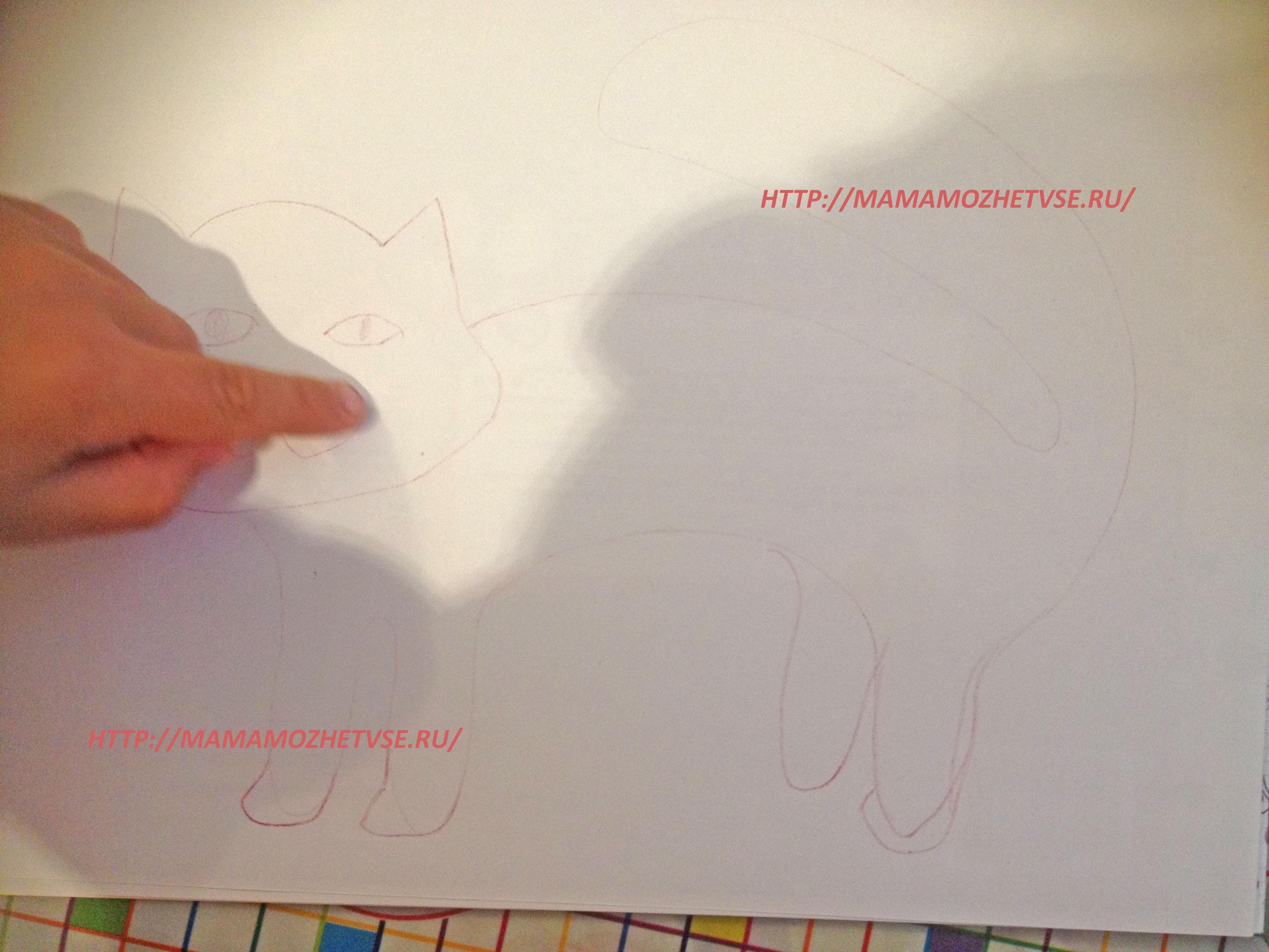 нарисуем котенка