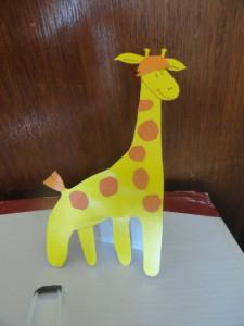 Аппликация для малышей: жираф