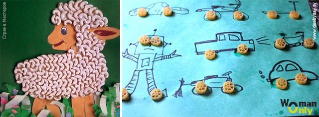 Поделки из макарон своими руками - шедевры детского творчества 3