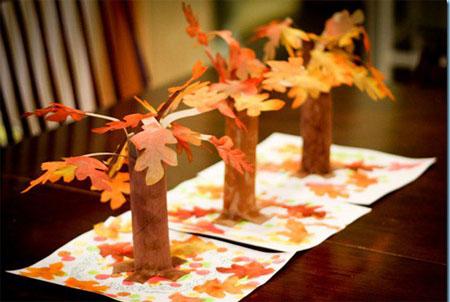 детская поделка на тему осень