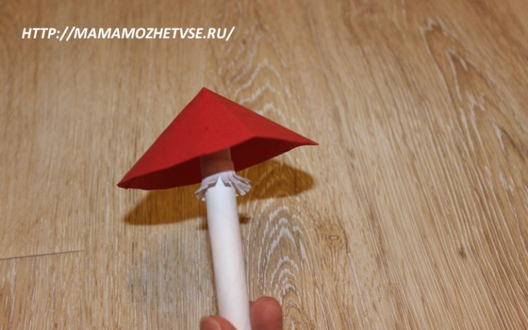 Как сделать гриб для сада из бумаги