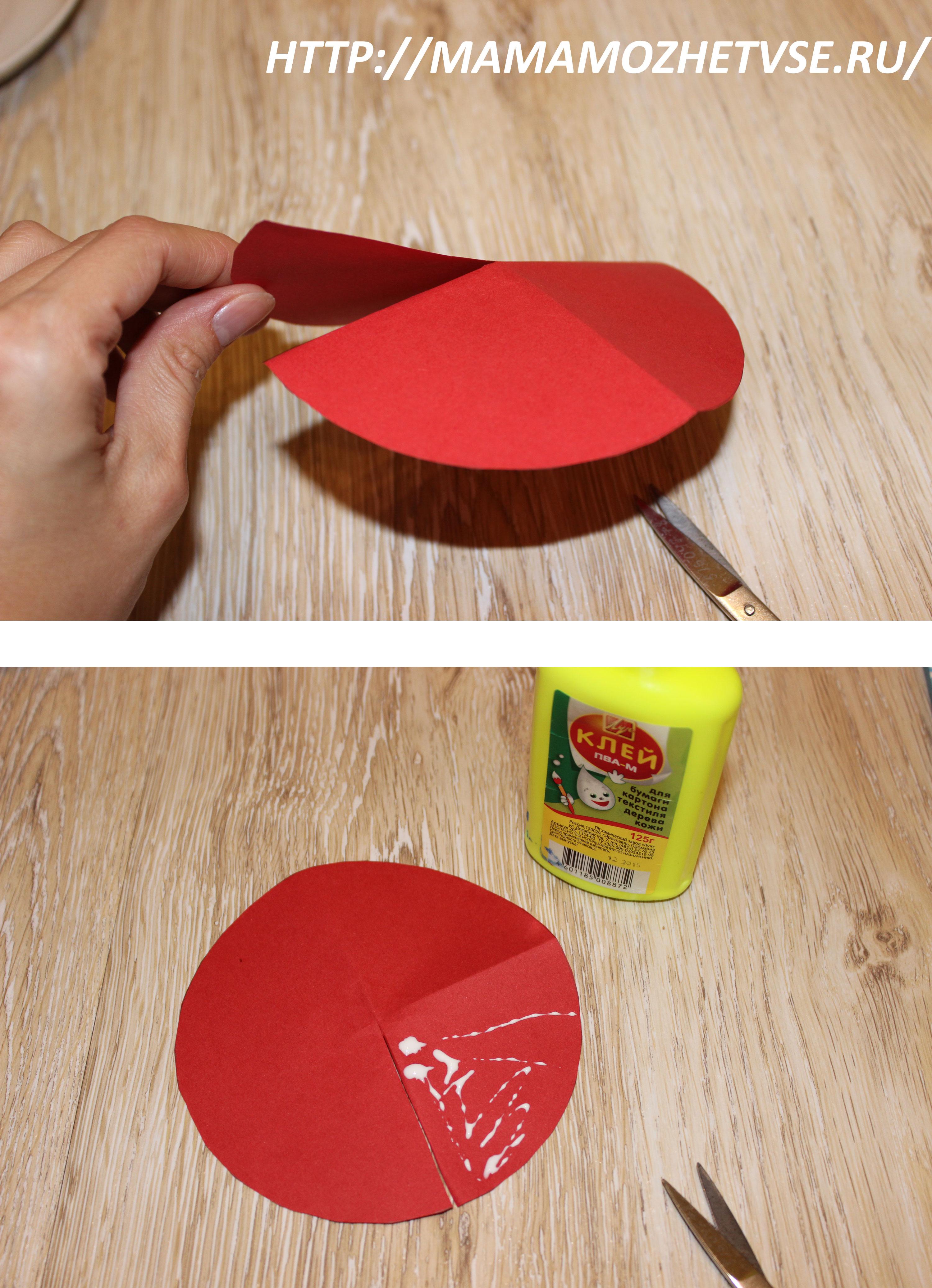 Как сделать шляпку гриба из бумаги для ребенка на голову