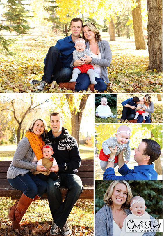 семейная фотосессея осенью 1