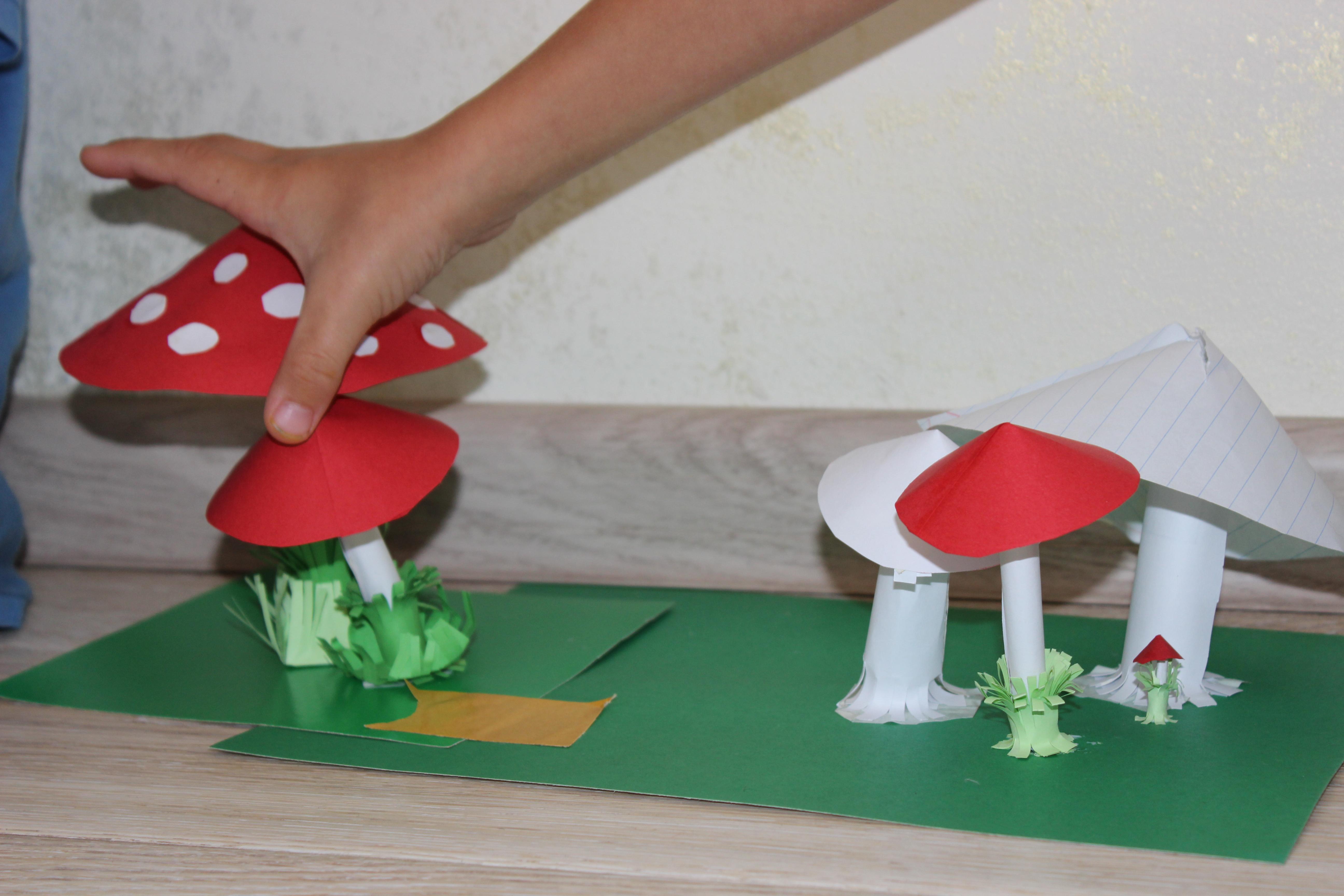 Как сделать грибочки для садика своими руками