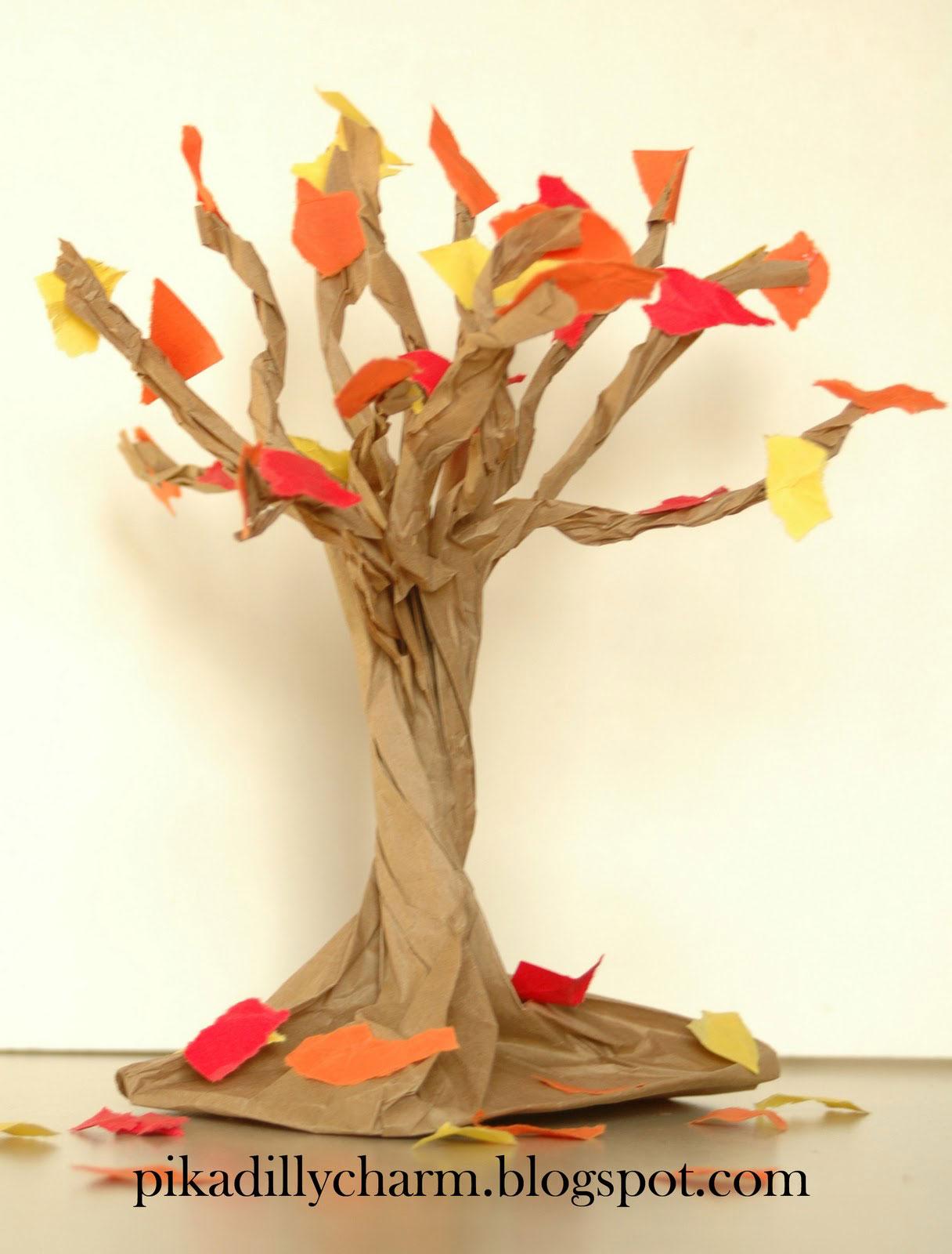 осеннее дерево - поделка в детский сад