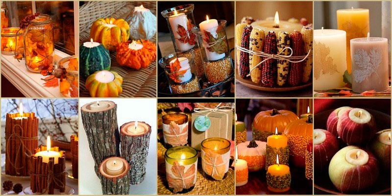 поделка осенние свечи