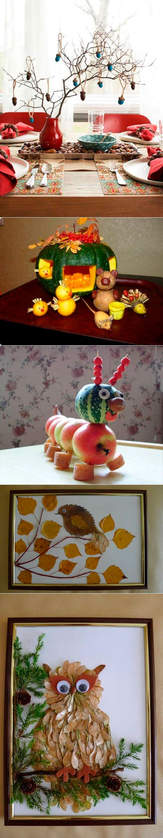 Осенние поделки: 25 идей для детского творчества и украшения интерьера 18