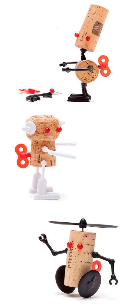 роботы из пробок