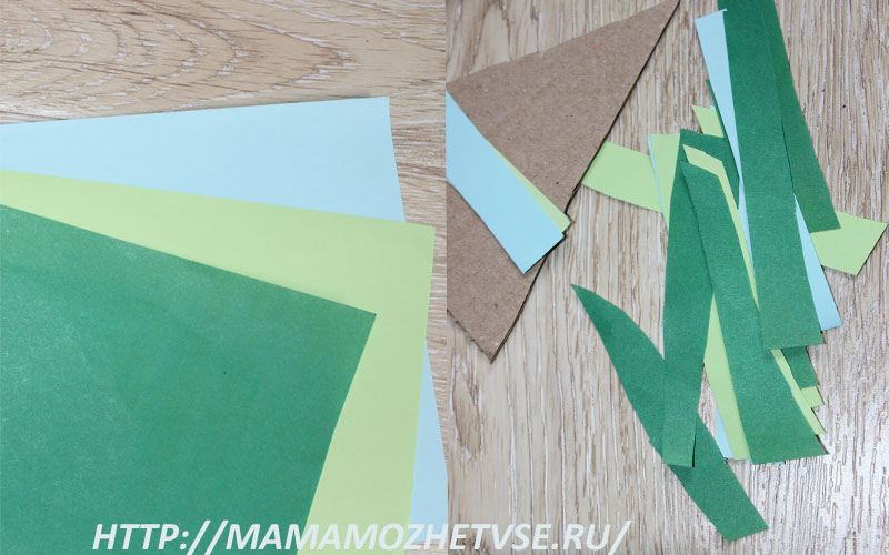 поделка елка из бумаги и картона