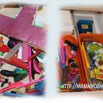 Организация ящика в столе сына (фото до и после)