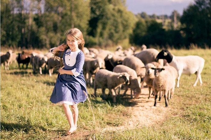 сельская природа и дети