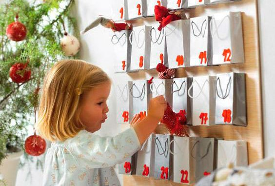 Advent calendar for children with their own hands for the New Year