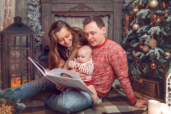 теплые семейные фотографии на новый год