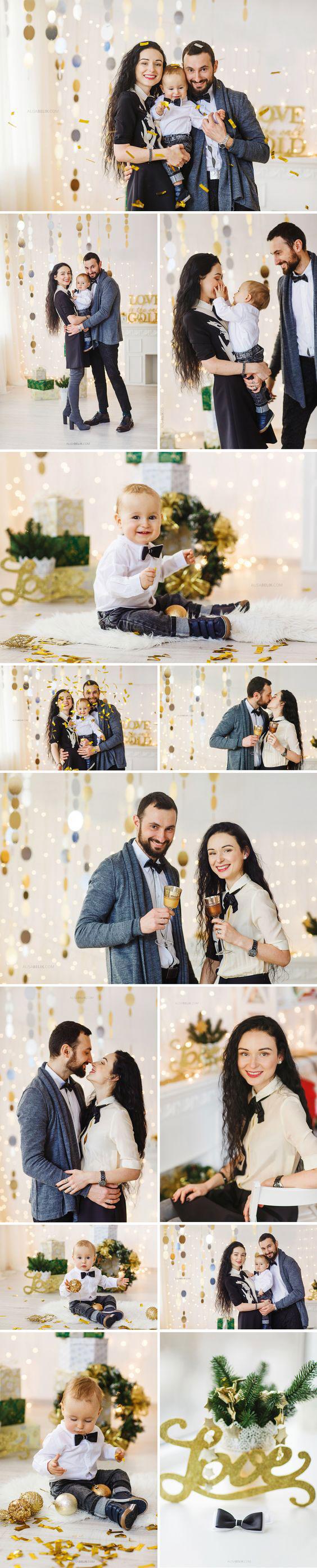 фотографии семьи на новый год