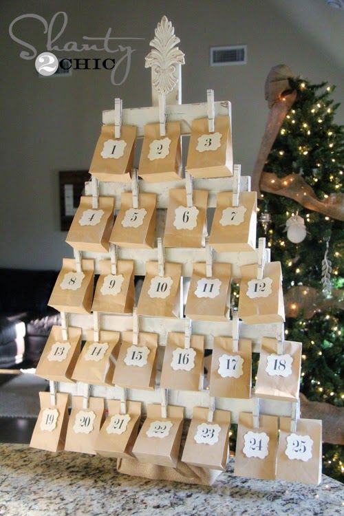 Advent calendar for children for the new year