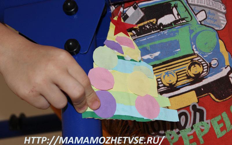 поделка елочка из цветной бумаги