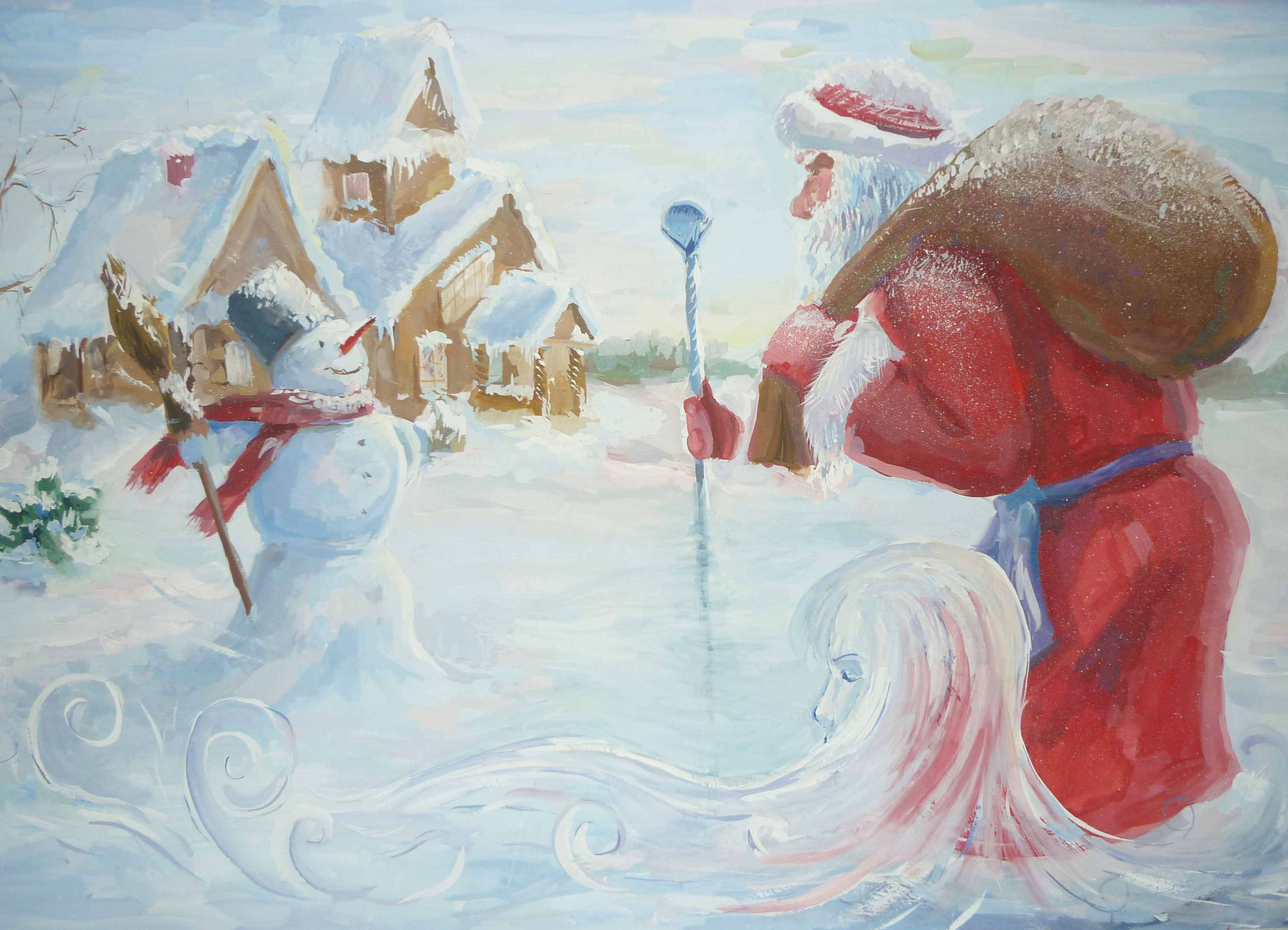 children's puzzles about winter