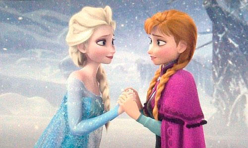 the text of the song of Anna and Elsa from the cartoon Cold Heart