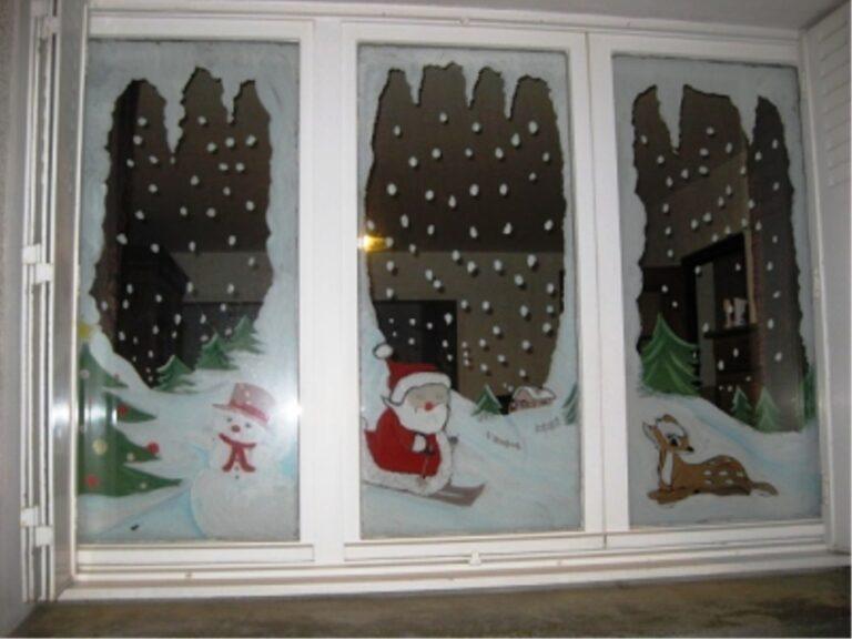 Как украсить окна к новому году своими руками фото