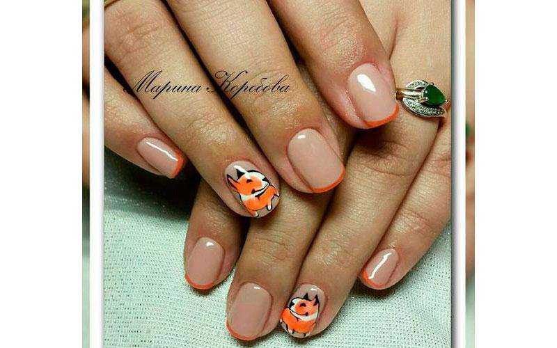 короткие ногти с покрытием гель лаком
