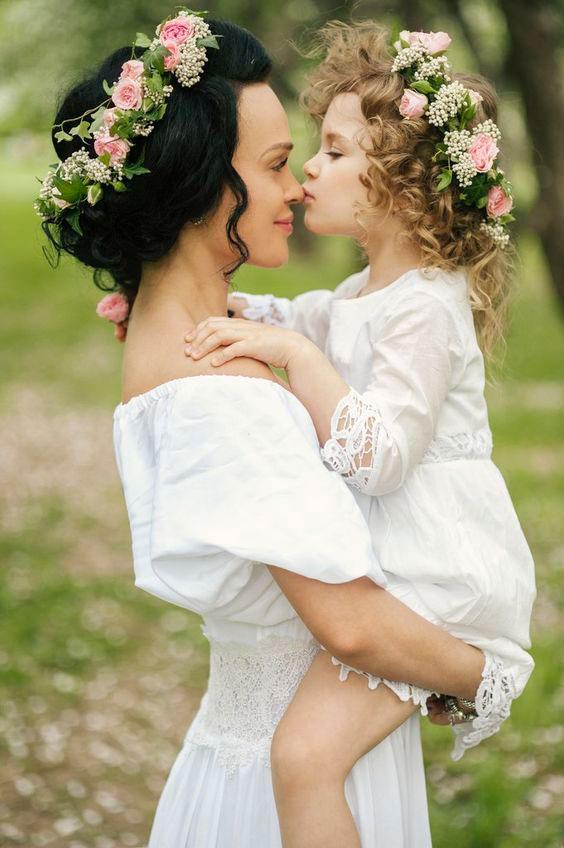 одинаковая одежда для мамы и дочки 7