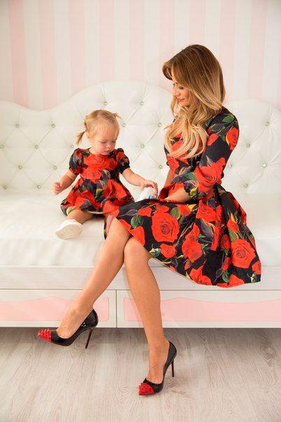 фотографии мамы и дочки в одинаковой одежде 9