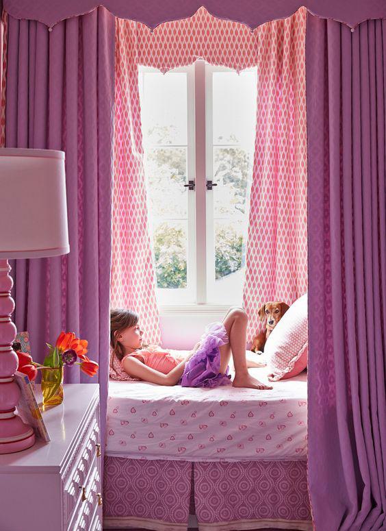 фиолетовая комната девочки