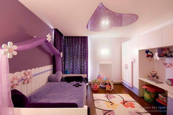 Дизайн детской комнаты в фиолетовых тонах 3