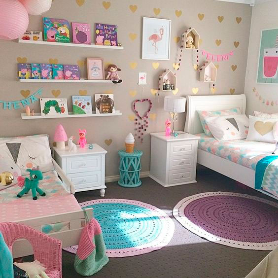 фото фиолетовой детской комнаты 3