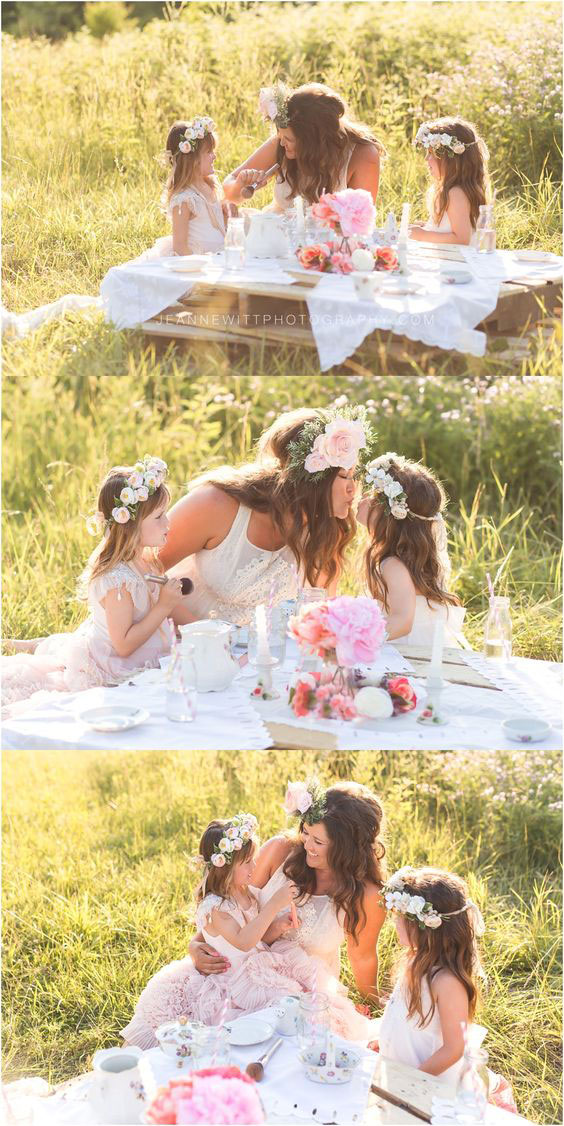 мамы и дочки в одинаковых платьях 4