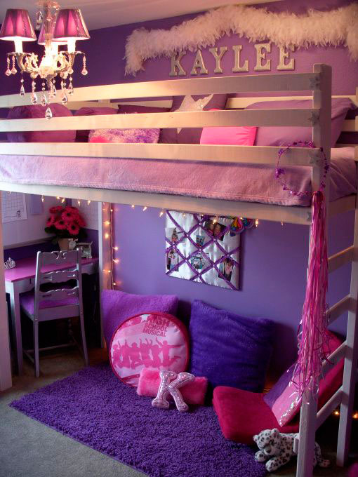 Детская фиолетовая комната фото 2