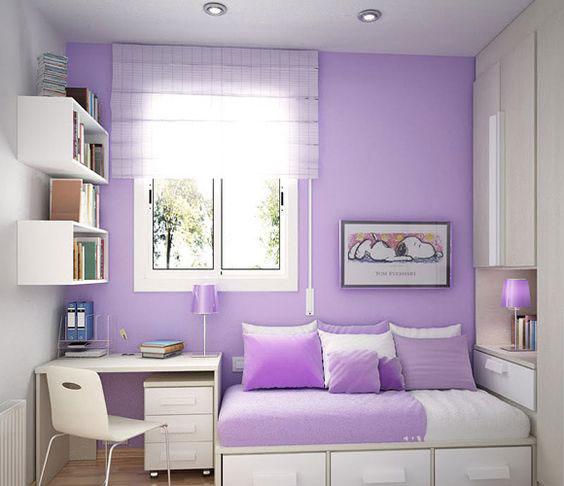 фиолетовый цвет в интерьере детской комнаты