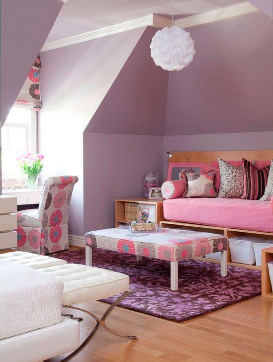 фотография фиолетовой комнаты ребенка 9