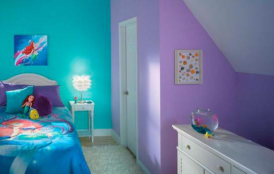 фиолетовая детская комната для девочки 3