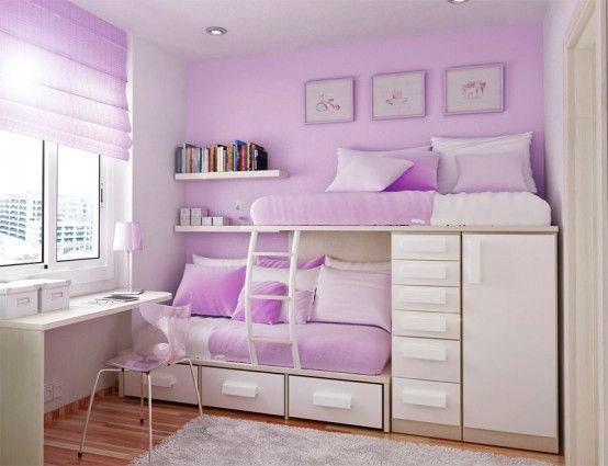 фото фиолетовой детской комнаты
