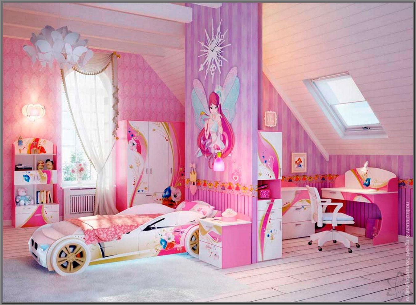 фиолетовая комната с феями