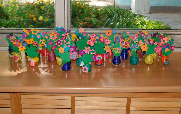 children's crafts from glass jars from baby food