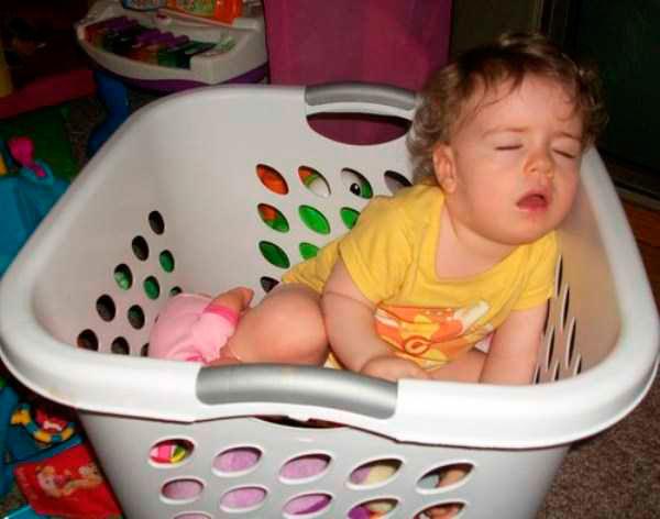 дети могут уснуть где угодно 2