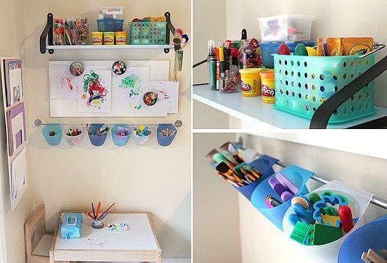 детский уголок для творчества в квартире