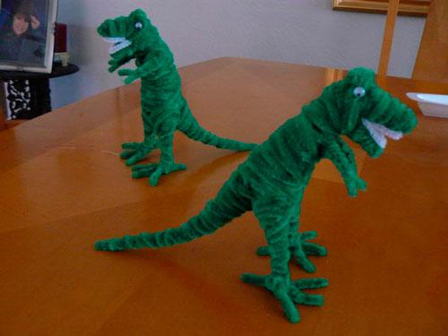 динозавры из синельной проволоки