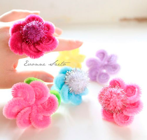 цветы из пушистой проволоки